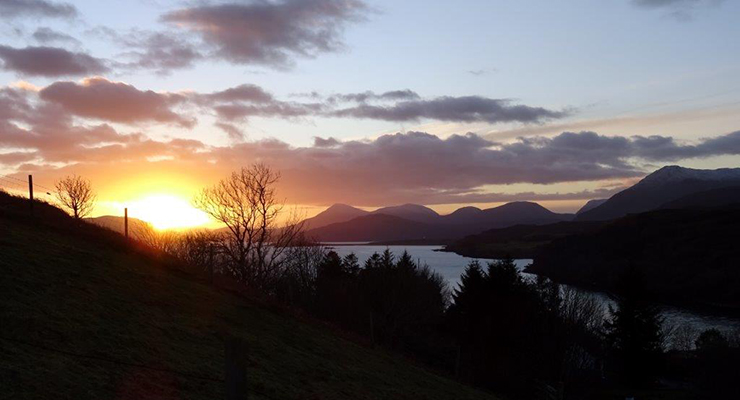 Room In The Wood Sunset Skye View